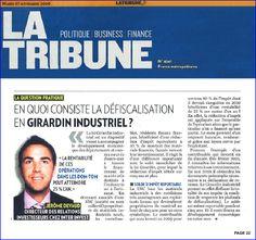 La Tribune Jerome DEVAUD Inter Invest La Defiscalisation en Loi Girardin