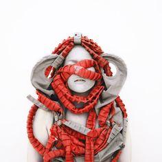 Kimiko Yoshida; has created an amazing HUGE series of self-portraits drawing on other artworks and writings as inspiration