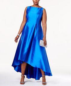 Adrianna Papell High-Low Ball Gown | macys.com