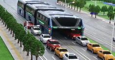China's traffic jams are legendary. But the country's epic gridlock problems might soon be a thing of the past if plans for this amazing elevated bus go ahead.