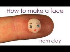 [ENG] How to make a face from polymer clay - Tutorial - YouTube