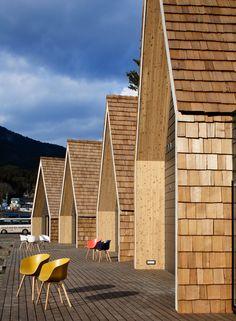 New House Facade Timber Architecture 33 Ideas Timber Architecture, Japan Architecture, Architecture Details, Roof Design, Facade Design, House Design, Wooden Facade, Modern Barn House, Backyard Pool Designs