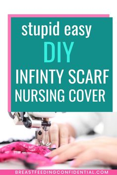 Super Easy DIY Nursing Scarf Cover - It doesn't get any eaasier that this for those times when breastfeeding moms want a nursing. Breastfeeding In Public, Breastfeeding Cover, Breastfeeding Clothes, Breastfeeding Support, Diy Nursing Clothes, Nursing Tops, Nursing Cover Scarf, Breastfeeding Accessories
