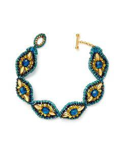Braccialetto Blu Multicolore a forma di diamante