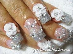 blinged silver