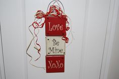Wooden Valentine Door hanger
