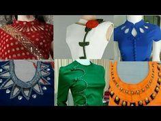 Most Stylist neck design neck design for kurti, blouse, top, Lengha Blouse Designs, Salwar Suit Neck Designs, Churidar Designs, Neck Designs For Suits, Kurta Neck Design, Back Neck Designs, Kurta Designs Women, Blouse Neck Designs, Blouse Neck Patterns