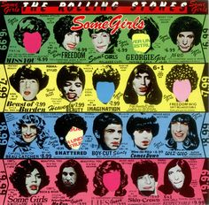 """Reproduction The Rolling Stones Poster, """"Some Girls - Album Cover"""", Home Wall Art, Size: x The Rolling Stones, Rolling Stones Album Covers, Rolling Stones Albums, Rock Album Covers, Classic Album Covers, Iconic Album Covers, Cover Art, Lp Cover, Vinyl Cover"""