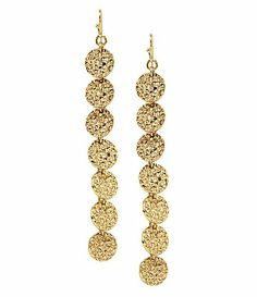 Anna & Ava Gold Coin Linear Earrings