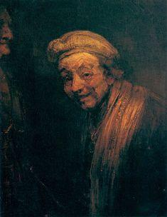 self portraits | Rembrandt van Rijn: Self-portrait as Zeuxis Laughing (1662); Wallraf ...