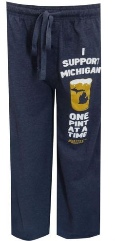 Michigan Brewers Guild Michigan Beer Navy Blue Lounge Pants