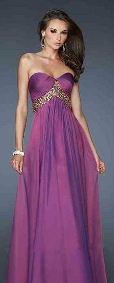Sleeveless Strapless Chiffon A-Line Evening Dresses ykdress5198