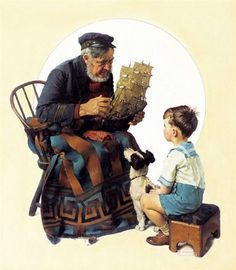 Sea Captain With Young Boy