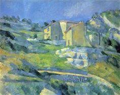 Houses at the L'Estaque - Поль Сезанн