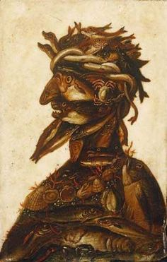 The Four Elements - Water by Arcimboldo, Giuseppe - Wall Art Giclee Print or Canvas Giuseppe Arcimboldo, Art Commerce, Magic Realism, Italian Painters, Illusion Art, Portraits, Pop Surrealism, Optical Illusions, Traditional Art