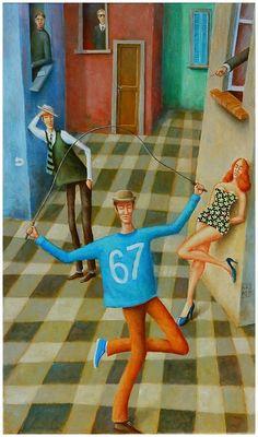 ArtGalery ° PERSONALART.PL tytuł/title: Patrycja wyszła z domu/Patricia left the house, author: Wiktor Najbor https://www.personalart.pl/wiktor-najbor