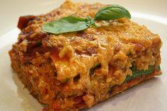Zucchini quinoa lasagna!