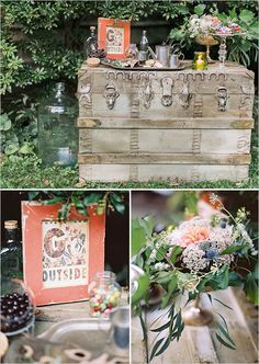 trunk dessert table | easy decor ideas | garden wedding | greenery | #weddingchicks