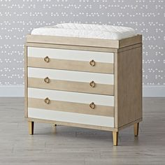 Shop Genevieve Gorder 3-Drawer Striped Changing Table.  Give your nursery a chic, playful touch with this striped changing table.