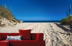 Avancée sur une plage de Vendée sur la côte Atlantique.