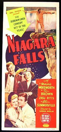 Niagara Falls (1941) - A young woman traveling towards Niagara Falls has a flat tire and a traveling salesman stops to help her. The woman desperately wants to get married and have kids, while the salesman enjoys his bachelor life. An Oklahoma oilman and his new bride arrive on the scene.