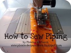 Gilbert Street Stitches: Sewing Tutorial: How to Make Your Own Piping