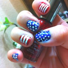 Patriotic nails for 4th of July