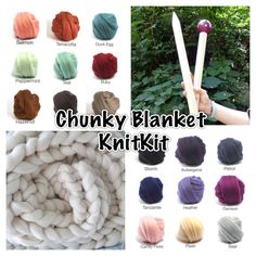https://www.wish.com/c/569ee9b81680160f83c3a10b  Big knit KNIT-KITCOLOR Choice Chunky Blanket 24 by ColorwaysGallery
