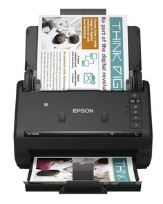 Epson WorkForce ES-500W Wireless Color Duplex Document Scanner for PC and Mac, Auto Document Feeder (ADF). Wirelessly scan to your smartphone, tablet or computer - plus popular online storage accounts; PC and Mac compatible. Get organized in a snap - scan up to 35 ppm/70 ipm; single-step technology captures both sides in one pass. Scan to online storage accounts - intuitively scan to Dropbox, SharePoint, Google Drive, Evernote and more. Turn paper documents into searchable, editable files…