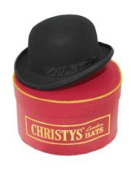 Christy's London Black Fashion Bowler, complete with hat box
