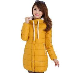 Clearance Down Parkas Autumn Women Cotton Coat Slim Medium-long Jackets Thickening Warm Overcoats Promotional discounts