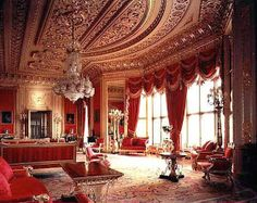 The Red Drawing Room, Windsor Castle