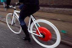 Copenhagen Wheel turns your bicycle into a hybrid e-bike using pedal produced energy!