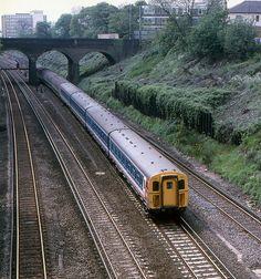 BR EMU formation (led by Surbiton U Bahn Station, Train Station, Electric Locomotive, Diesel Locomotive, Uk Rail, Railroad Pictures, Southern Railways, Ticket To Ride, Train Art