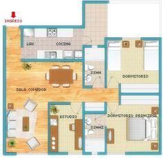 planos de casas de un piso modernas 3