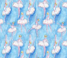 Snow Queen fabric from spoonflower