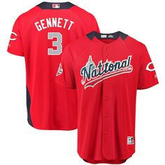 Scooter Gennett National League Majestic 2018 MLB All-Star Game Home Run  Derby Player Jersey – Red 56b2a7ff1