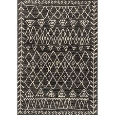 Alexander Home Brently Black/ Ivory Abstract Rug (3'10 x 5'7) (Black/ Ivory (3'10 x 5'7)) (Polypropylene, Oriental)