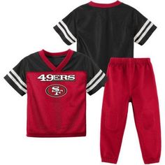 NFL San Francisco 49ers Toddler Short Sleeve Top and Pant Set, Toddler Girl's, Size: 18M, Red