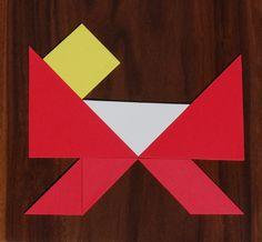Kerst tangram kribbe