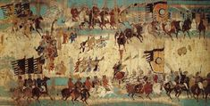 Battle of Talas 751 CE – Clash Between the Arab Abbasid and Chinese Empire Dunhuang, Chinese Armor, Medieval, Ancient, Black Buddha, Painting, Art, Buddha, Chinese Art
