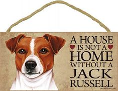 Jack Russell Terrier Wood Dog Sign Wall Plaque Photo Display A House Is Not A Ho…