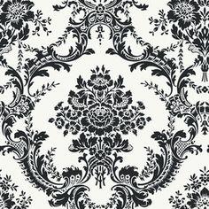 Black Strippable Non-Woven Paper Prepasted Classic Wallpaper