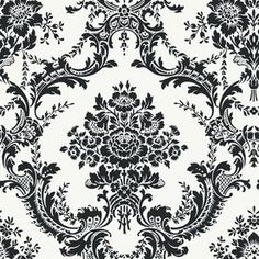Black Strippable Non-Woven Paper Prepasted Classic Wallpaper