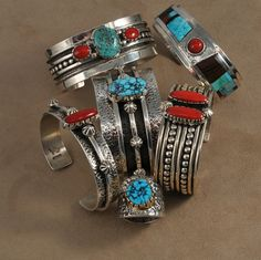This Jewelry by Vernon Begaye will be Featured at Faust Gallery during Santa Fe Indian Market. August 12th-18th, 2013. Via Perry Null Trading.