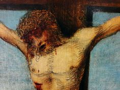 Details from the Saint Reinhold Altar by Joos van Cleve, before 1516, National Museum in Warsaw. Commissioned by Brotherhood of Saint Reinhold in Gdańsk. #detail #crucifixion #saintreinhold #altar #joosvancleve #artinpl #nationalmuseuminwarsaw #tempera #wood #gdansk #sword #1510sfashion Tempera, National Museum, Altar, Moose Art, Warsaw, Wood, Saints, Van, Painting