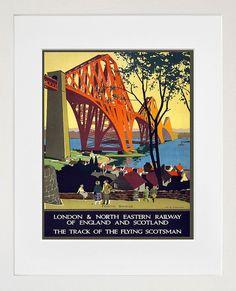 Scotland Wall Art Print Scottish Vintage Travel Poster (TR75) on Etsy, $8.99