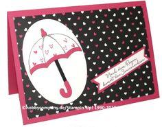Grußkarte mit dem Produktpaket Donnerwetter/Regentage von Stampin Up