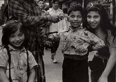 "William Klein, Little Italy, New York, 1954.   ""What I stubbornly see are one boy's bad teeth..."" (p. 46)."