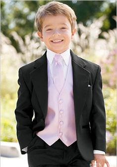 Ring bearer's tux (vest and tie will be blue).